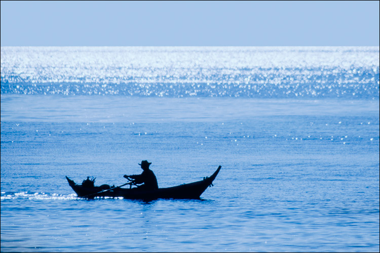 Fisherman on the Andaman Ocean